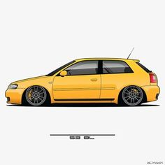 Audi A3 8l, Audi Rs, Car Vector, Vector Art, Jdm Wallpaper, Paper Car, Car Drawings, Vw Beetles, Car Wallpapers