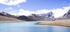 The Himalayan peaks on the bank of Gurudongmar @ 17000 feet above MSL.