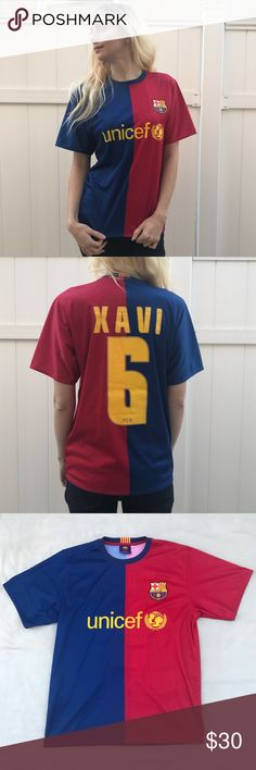 1032d19bf 2008-2009 Xavi Barcelona Jersey This official Barcelona club product is a  replica kit quality version of Xavi Hernandez s shirt. Featuring a  double-thick ...