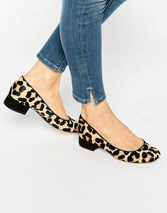 Image 1 of Dune Alanah Leopard Pony Flat Shoes