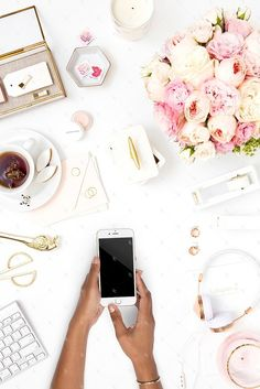 Styled stock for darker skin business owners! Blush styled desktop with gold desk accessories. Transform your brand with luxury styled stock from the SC Stockshop! These high quality images have everything you need to take your brand to the next level!