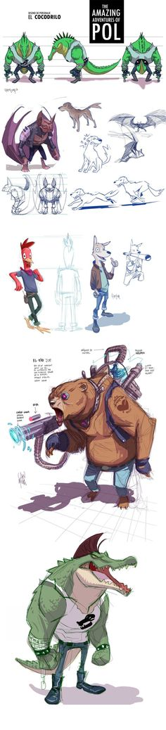 Las sorprendentes aventuras de Pol (The amazing adventures of Pol) by Dan Mora, via Behance
