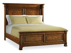 Overawe King Panel Beds With Cushions And Green Bed Linen