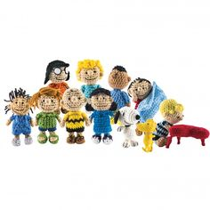 The whole cast of characters from Thunder Bay's Peanuts Crochet!