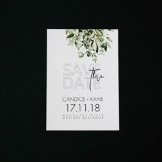 F O I L A G E 》 Fresh and clean variation added to our collection of Save the Dates! ✒#savethedate #foilage #fresh #weddingstationery #invitations #weddinginvitations #bridetobe