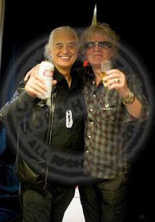MAGE MUSIC: 2012 Jimmy Page with Ian Hunter at Mott the Hoople film premiere (Ross Halfin photo)