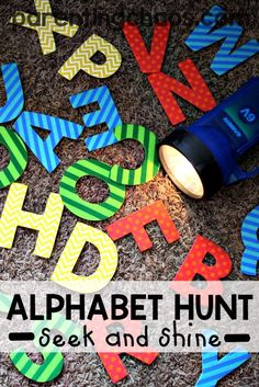 I love how fun this Alphabet Flash Light Hunt is to work on letter recognition!
