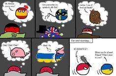 """In your dreams"" ( Germaney, Spain , UK, Sweden , Latvia , Poland , Ukraine ) by masiakasaurus  #polandball #countryball #flagball"