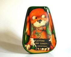 Vintage Tin Box Horner Candy Tin with Good Luck by CalloohCallay, $32.00