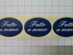 250 ETICHETTE BOLLINI ADESIVI CHIUDIPACCO BLU FATTO A MANO, B5 + omaggio http://stores.shop.ebay.it/ARES-di-Fortunato-Giuseppe