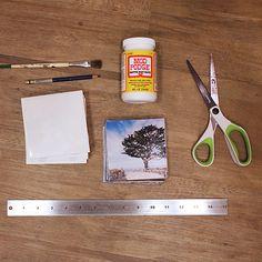 Polaroid Coasters with Instagram Prints DIY