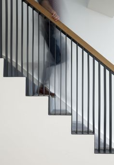 Cut & Frame London, UK - 2013 by Ashton Porter architects Interior Stair Railing, Staircase Handrail, Balcony Railing Design, Stair Decor, Staircase Design, Wrought Iron Stairs, Casa Patio, Building Stairs, Stair Detail