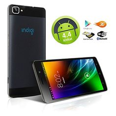 Indigi UNLOCKED 55 Capacitive Touch Screen Android 44 DualCore 3G GSMWCDMA Smartphone Phablet Google Play Store Black * Want additional info? Click on the affiliate link Amazon.com on image.