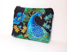 Medium Zipper Pouch Cosmetic Bag Pencil Case by handjstarcreations, $12.50