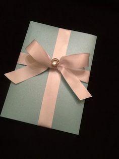 100 sets  Tiffany Themed Wedding Invitation