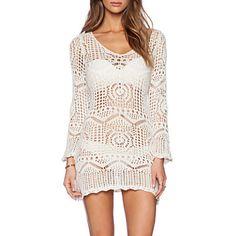 99a8aba8a1 Fashion Hollow Crochet Long Sleeve Swimsuit Uk For Women Swimwear Uk For  Women Bikini Dress Beach Cover Up