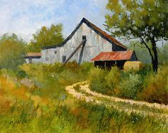Red Roofs and Weeds 8x10, Ralph Parker