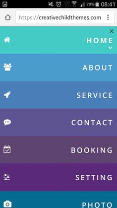 A collection of over 8 new styles for the Divi theme mobile menu. Choose the style you like best, take the CSS code and . Your mobile menu finally has a whole new style without using any plugins. Website Menu Design, Hamburger Menu, Menu List, Web Design, Navigation Bar, Mobile Ui, Creative Kids, Colorful Backgrounds, Child