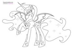 Nightmare Moon Coloring Pages | Coloring99.com