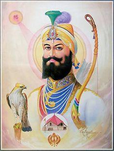 Guru Nanak Photo, Guru Nanak Ji, Guru Granth Sahib Quotes, Sri Guru Granth Sahib, Kerala Mural Painting, Indian Art Paintings, Sikhism Religion, Guru Hargobind, Guru Tegh Bahadur