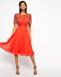 Virgos Lounge Lena Midi Prom Dress with Embellishment