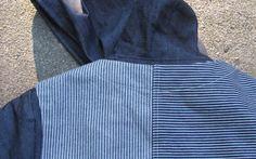 Denim Vest & Hoodie Combo #hickorystripe #railroad #indigo #textile #fabric
