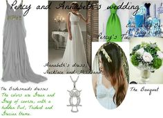 Percy and Annabeth's wedding! I just made this because I was bored, all of the pictures are from pinterest. I hope no one minds! Annabeth Chase and Percy Jackson are OTP.