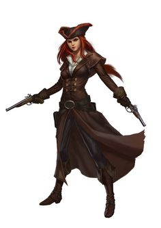 f Rogue Thief Pirate hilvl Leather Armor Cloak Pistols Hat