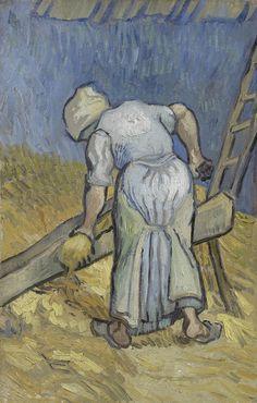 Peasant Woman Bruising Flax (after Millet) Saint-Rémy-de-Provence, September 1889 Vincent van Gogh (1853 - 1890) oil on canvas, 40 cm x 26 cm Van Gogh Museum, Amsterdam (Vincent van Gogh Foundation)  http://www.vangoghmuseum.nl/en/collection/s0043V1962