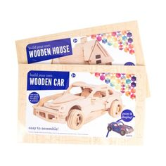 Build your own model car or house! Paint a replica of your favorite Nascar driver or a model of your dream home! Contains 3 wood punch-out sheets, sandpaper and easy to follow instructions! Build your own puzzle is a great family activity to work on together! Paint and embellishments not included. Available at Walmart. 3D … Continued