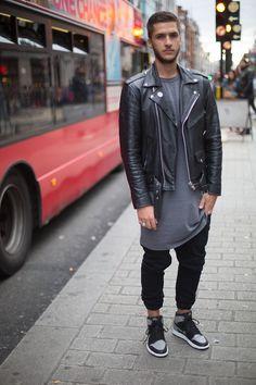 City life charm. #wait4it #Zappos | Fashion | Streetwear | Leather | Sneakers | Shirt/Dress