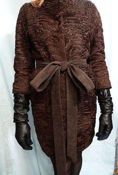Верхняя одежда ручной работы. Ярмарка Мастеров - ручная работа Пальто из каракуля swakara. Handmade.