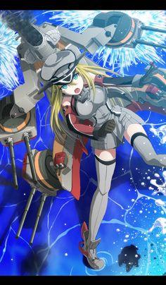 Anime,аниме,Bismarck (Kantai Collection),Bismarck,Kantai Collection,KanColle,Anime Art,Аниме арт, Аниме-арт,wrwr