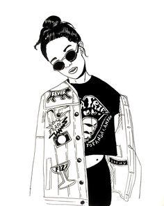 Image result for 90s grunge illustration