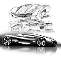 Xezri by Samir Sadikhov. Designed for the 'Ferrari World Design' Contest
