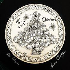 #christmas #zentangle #drawing