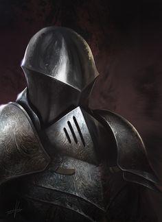Knight Portrait by Fetsch.deviantart.com on @deviantART