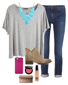 """""""OOTD"""" by prep-lover1 ❤ liked on Polyvore featuring Karl Lagerfeld, Chicnova Fashion, Kendra Scott, Jeffrey Campbell, MAC Cosmetics, Bobbi Brown Cosmetics, Urban Decay and Speck"""