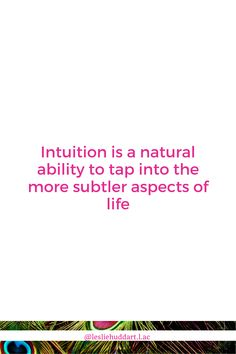 Let's talk about how to build your intuition. Specifically, how do I know when I'm really trusting my inner voice versus the thinking mind (plus a straight forward secret weapon to really boosting. Intuition Quotes, Spiritual Quotes, The Voice, Spirituality, Mindfulness, Positivity, Natural, Blog, Life