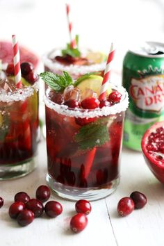 The Pretty Life Girls: PLG Cooks: Holiday Mojito Mocktail with Cranberry and Pomegranate - @prettylifegirls