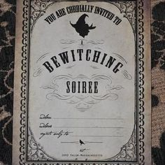 Free Vintage Witches Brew Halloween Invitation {Printable Halloween Invitations}