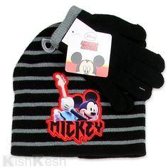 493b5cba285 Mickey Mouse Toddler Boys Beanie and Gloves Set.  Disney  Winter  Hats Boys