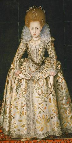ca. 1606 Princess Elizabeth, later Queen of Bohemia, by Robert Peake