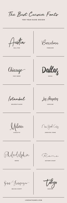 How to Select Cursive Fonts for Your Blog Design