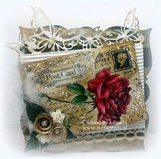 6410/0044 Noor! Design Clear Stamp Postcard Door Jolanda de Ronde