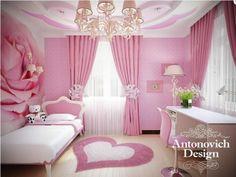 Детская комната для принцессы - маленькая девочка будет ощущать себя как в сказке.
