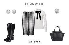 Trendstyle: Karriert // Kisura GmbH   #kisura #kisurastyling #clean #white #karriert #fashion #fashionlovers #black #white #chic