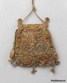 Англия, последняя четверть 16 века, вышивка золотом и серебром