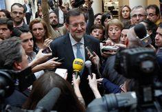 Rajoy da la espalda a las preguntas (10/04/2012)