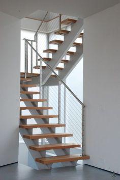 dise o de escaleras modernas con pasamanos de vidrio